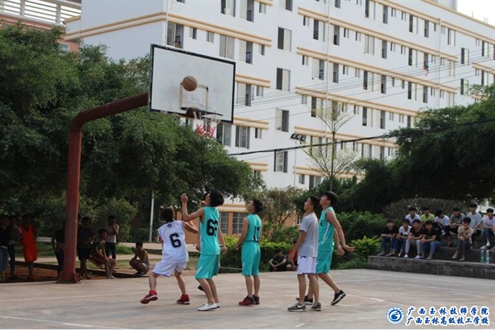 广西玉林技师学院三人篮球比赛拉开帷幕