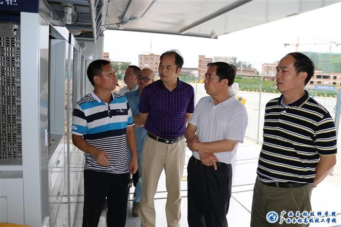 广西玉林技师学院校长带队赴广西经贸高级技工学校调研